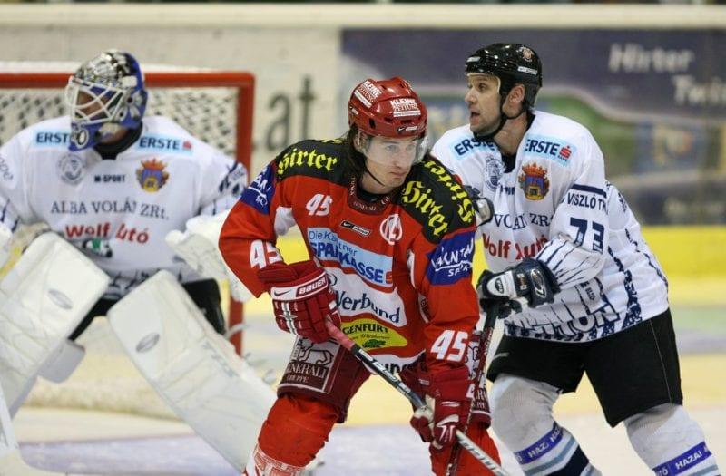 Erste Bank Eishockey Bundesliga. KAC gegen Alba Volan. Torjubel. Dave Schuller (KAC). Klagenfurt, am 9.10.2007.Foto: Kuess