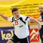 Handball Bundesliga. SC Ferlach gegen Hollabrunn. Dino Poje (Ferlach). Ferlach, 15.1.2011.Foto: Kuess