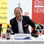 Eishockey. VSV. Pressekonferenz. Jyrki Aho, Gerald Rauchenwald. Villach, 9.5.2019.Foto: Kuess