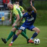 Fussball KFV Cup. Lendorf gegen ATSV Wolfsberg. Mario Nagy, (Lendorf), Bastian Rupp (Wolfsberg). Lendorf, 21.5.2019.Foto: Kuess