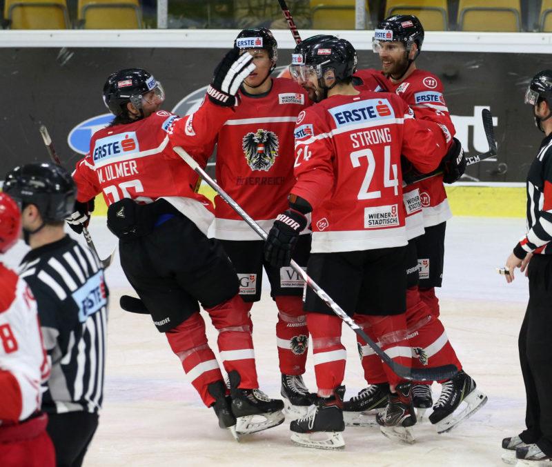 Eishockey Laenderspiel gegen Slowakei Foto: Kuess www.qspictures.net