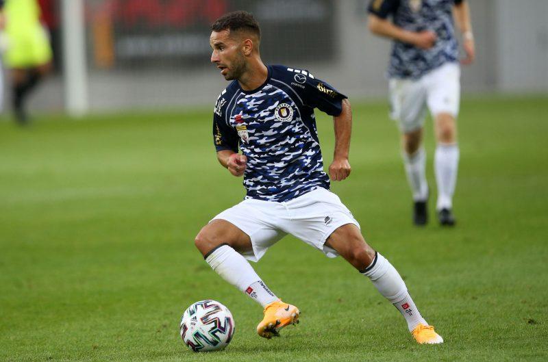 Fussball OEFB Cup. SK Austria KLagenfurt gegen Stadl-Paura. Okan Aydin  (Klagenfurt). KLagenfurt, am 28.8.2020.Foto: Kuess