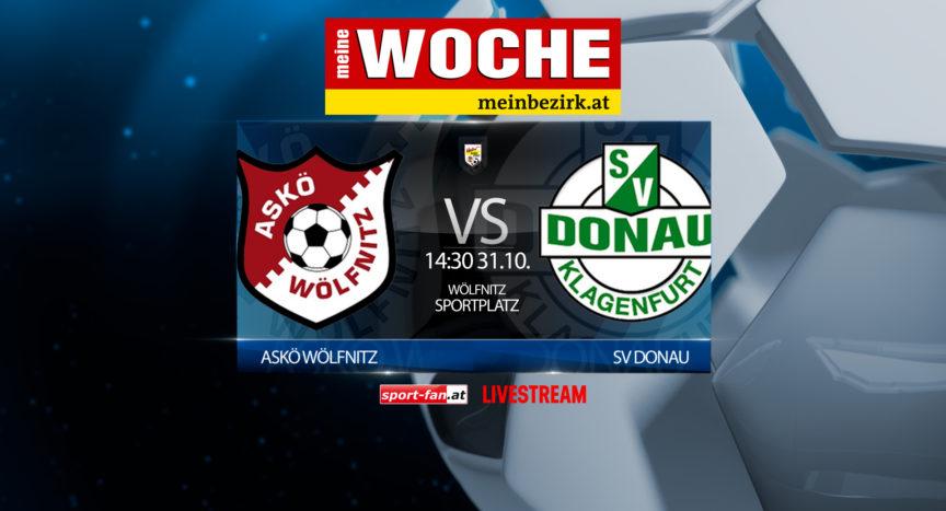 Fussball live ASKÖ Wölfnitz - SV Donau