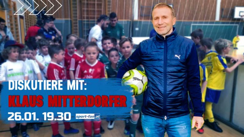 Live Talk mit KFV-Präsident Klaus Mitterdorfer 26.01. – 19.30h