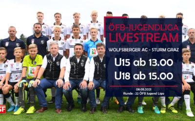 LIVE: ÖFB JugendligaWolfsberger AC empfängt Sturm Graz