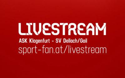 SpitzenspielLivestream Kärntner Liga – ASK Klagenfurt gegen SV Dellach/Gail