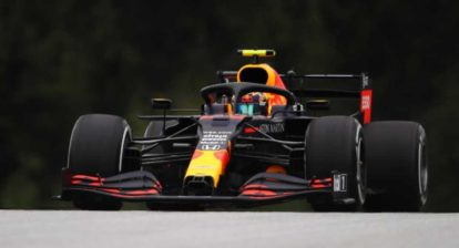 SPIELBERG, AUSTRIA - JULY 03: Alexander Albon of Thailand driving the (23) Aston Martin Red Bull Racing RB16 on track during practice for the F1 Grand Prix of Austria at Red Bull Ring on July 03, 2020 in Spielberg, Austria. (Photo by Bryn Lennon/Getty Images) // Getty Images / Red Bull Content Pool  // AP-24GZGDU792111 // Usage for editorial use only //
