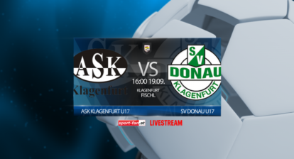 Fussball live ASK Klagenfurt-Donau-U17