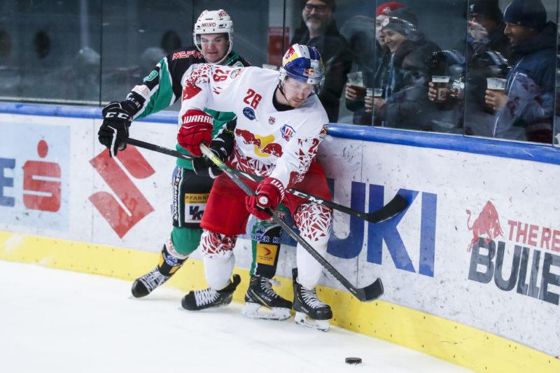 AHL, Alps Hockey League, Red Bull Hockey Juniors vs EC Bregenzerwald. Alexander Frandl (RBHJ). Photo: GEPA pictures/ Jasmin Walter