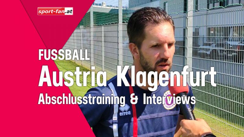 Austria Klagenfurt-Training im Karawankenblickstadion