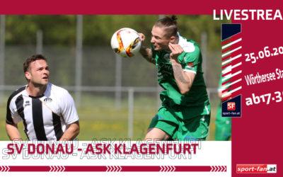 Unterliga OstSV Donau gegen ASK Klagenfurt – Livestream ab 17.30