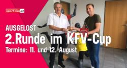 Auslosung KFV Cup-2-Runde