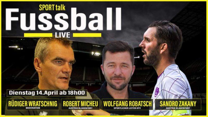 Austria Klagenfurt-Fussball-Live-Talk