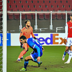 WAC schafft Aufstieg in der Euro League. Tor: Joveljic. Foto: Gerhard Pulsinger