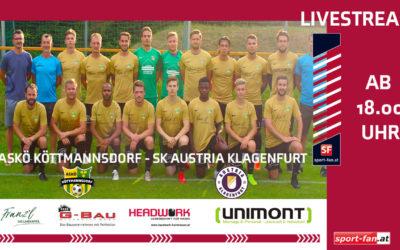 LivestreamASKÖ Köttmannsdorf gegen Austria Klagenfurt live ab 18.00