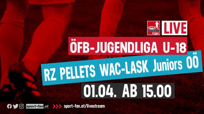 LivestreamJugendliga U18 Wolfsberger AC gegen den LASK